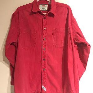 Levi Strauss  red 100% cotton shirt size large